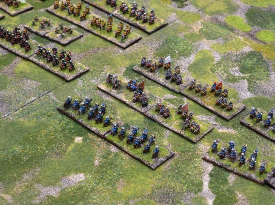 Close up view of 6mm cavalry stands