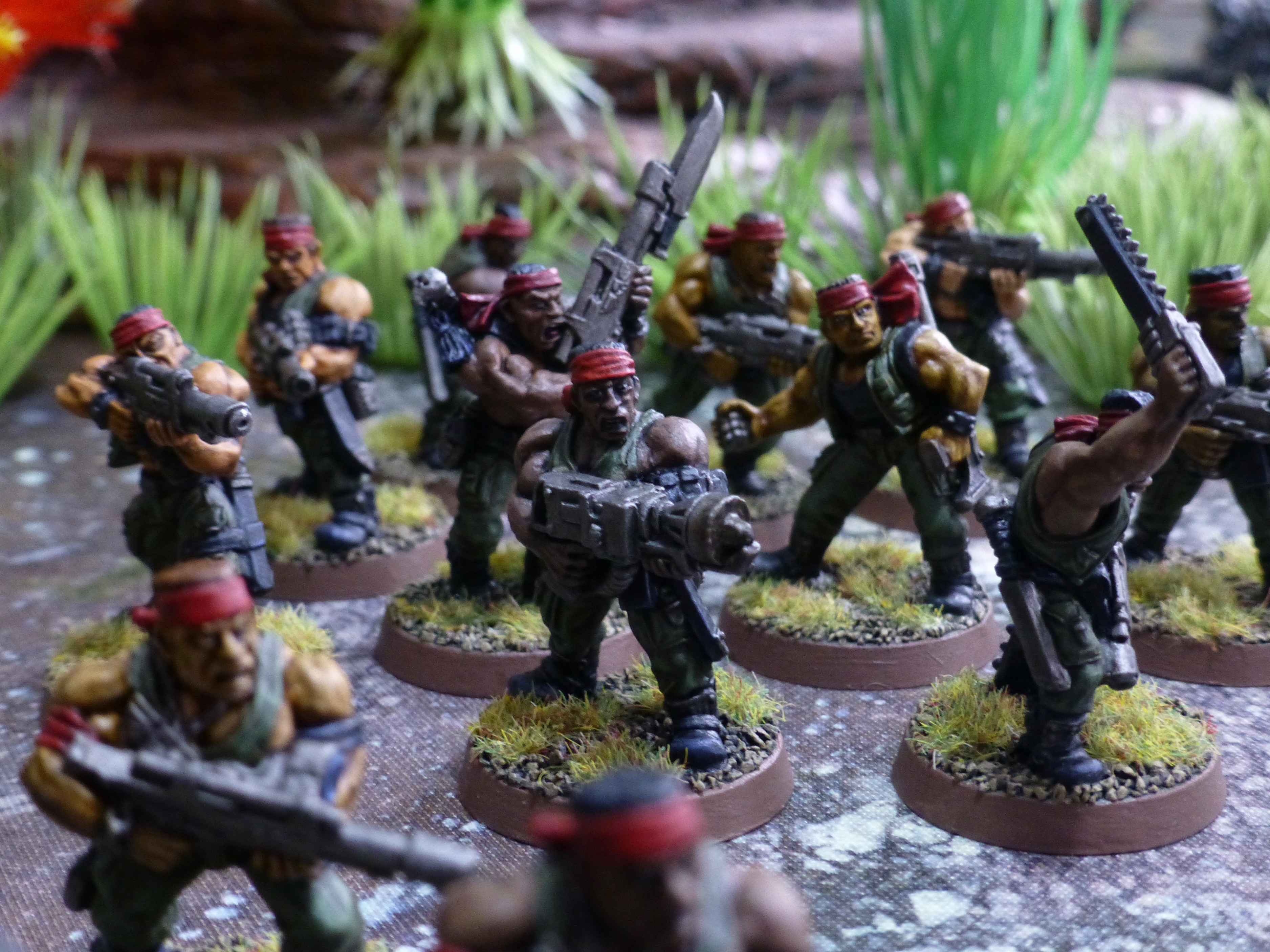 a2a89832e8f Squad of soldiers in action. Catachans make ferocious fighters