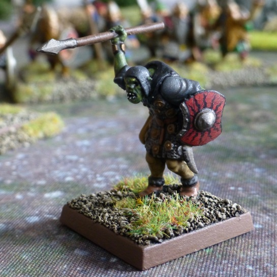 Goblin carrying a small shield and throwing spear