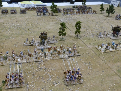 View from behind pike formations towards the opposing army