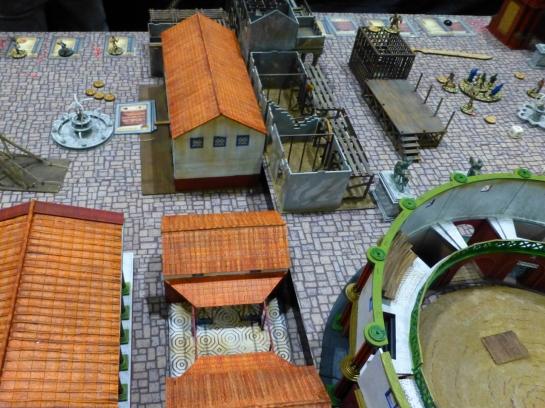 Roman city scape with small arena in the corner