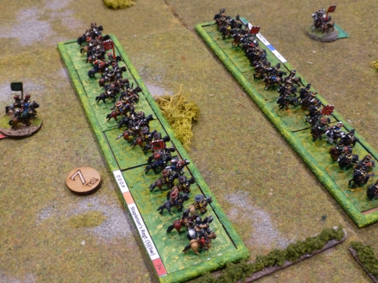 Two cavalry units attacking each other