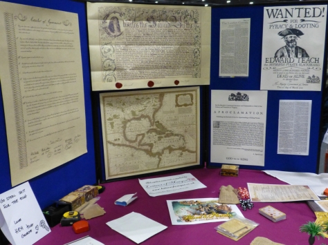 Maps and documents relating to pirates in the 17th century