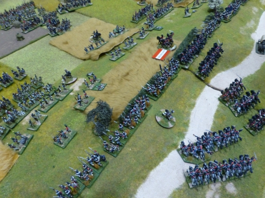 An army storming over a hill