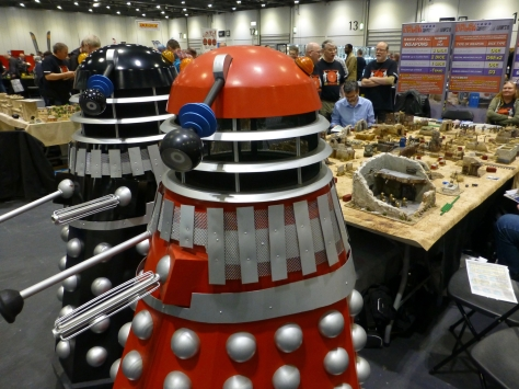 Two life sized Daleks
