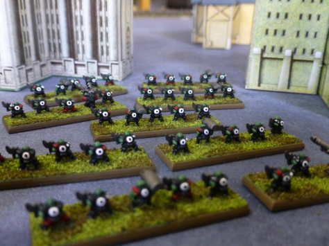 Back view of Goff Boyz amongst Imperial high rise buildings