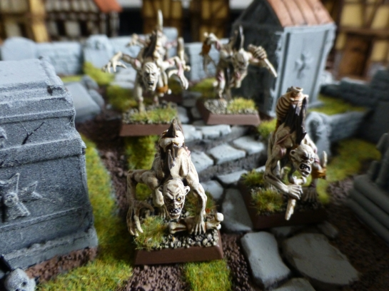 A handful of ghouls among tombs