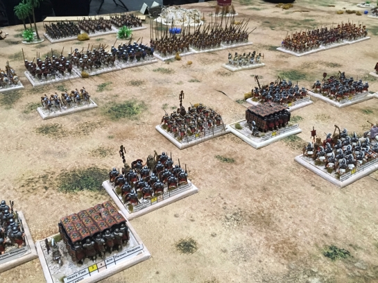 Imperial Roman army fighting against Macedonians