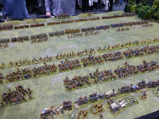 Boudicca's Iceni facing the Roman army