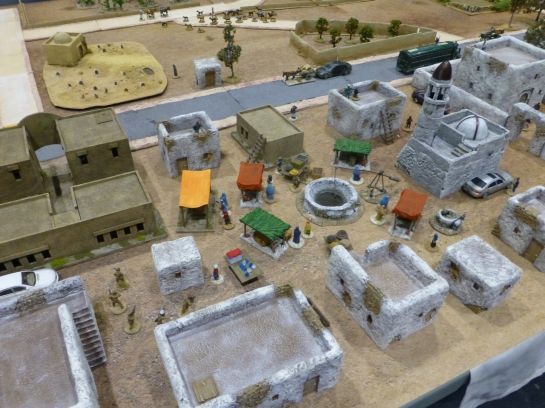 Recreation of British operations in Helmand in April 2009