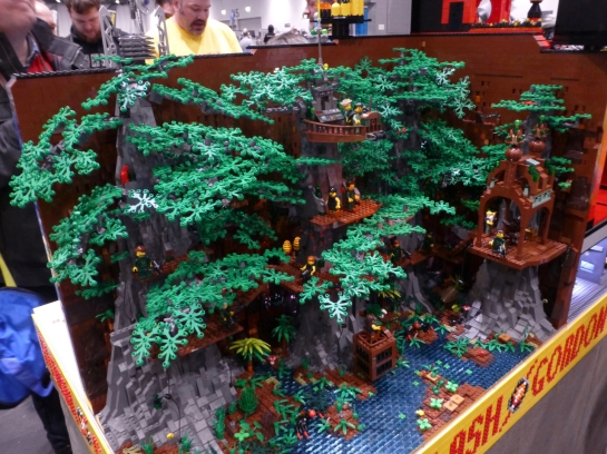 Fighting through a Lego forest