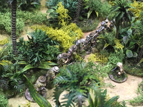 Australians fighting Japanese in the jungle