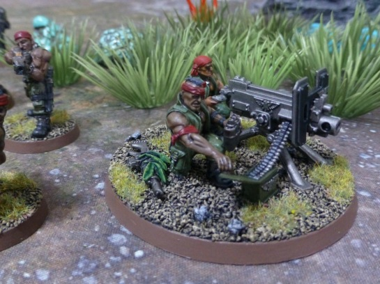 Weapon team with heavy bolter