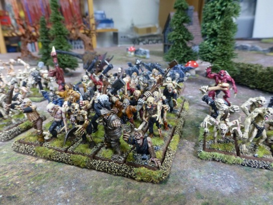 A horde of zombies
