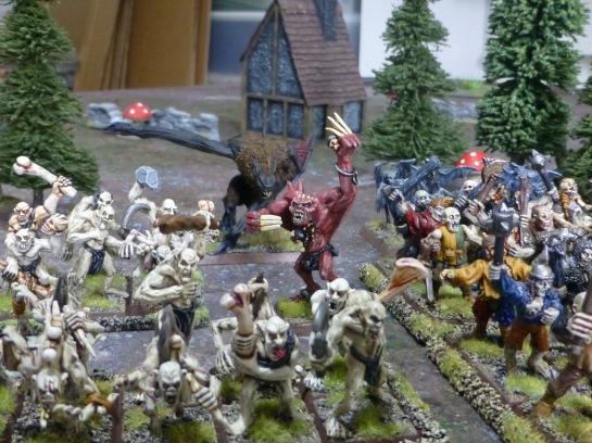 Strogoi Ghoul king amidst his minions