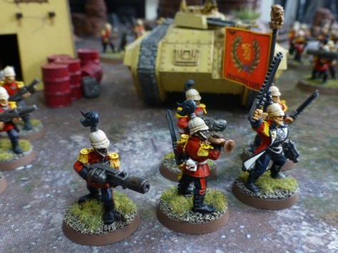 Command squad with standard bearer