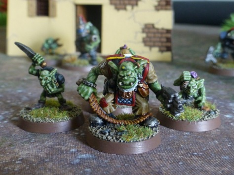 Ork Runtherd with bullwhip and bolt pistol