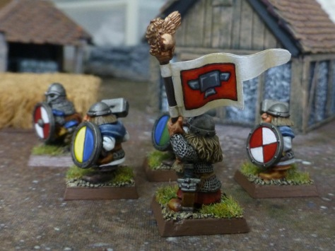 Side view of the dwarf banner bearer