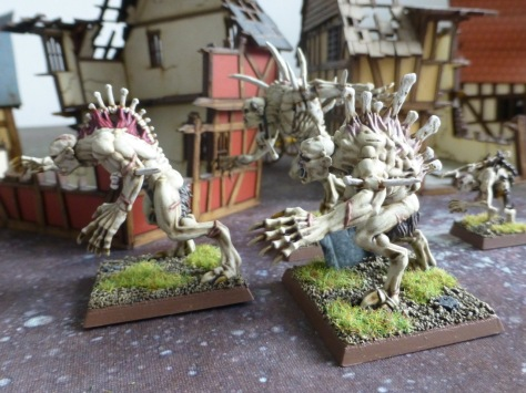 Side view of three Crypt Horrors