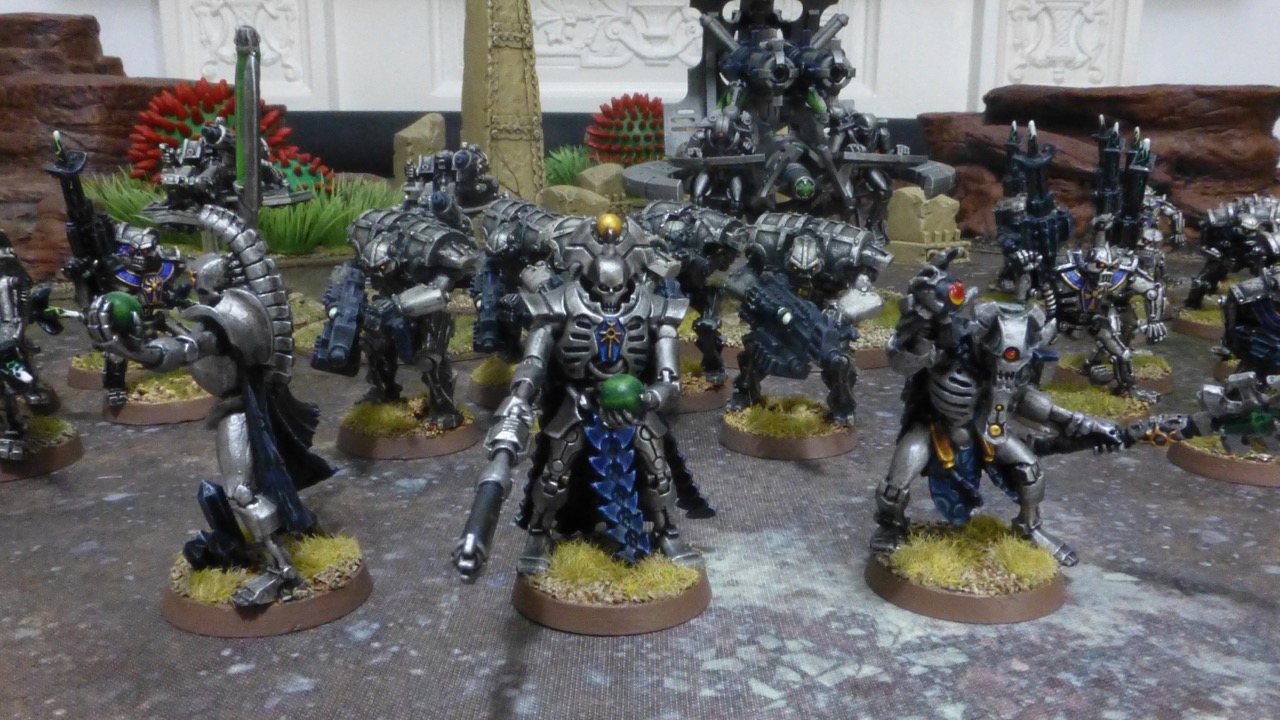 The three leaders of the Necron army