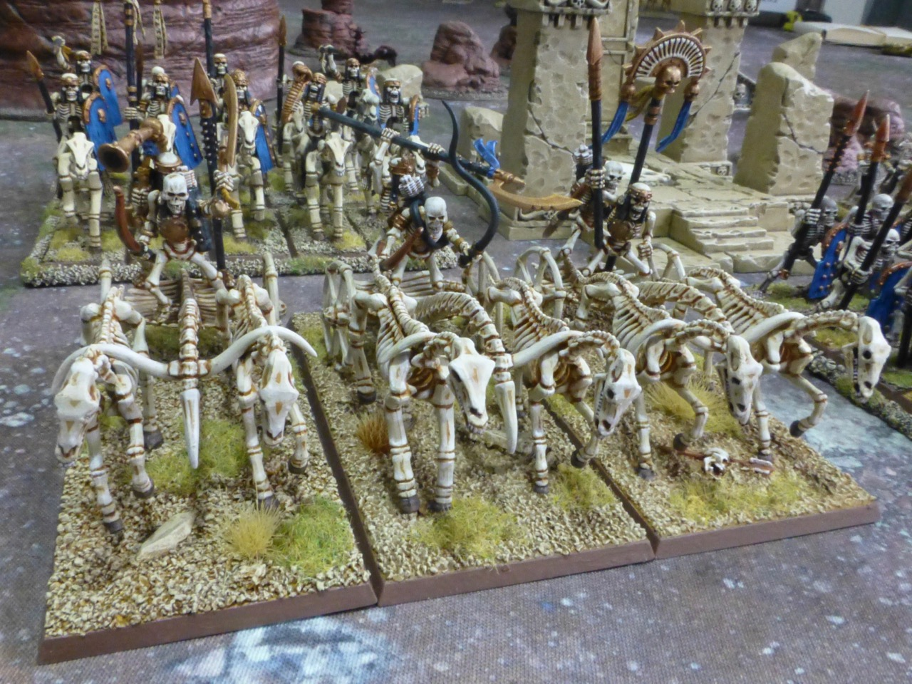 Undead chariots constructed from bones